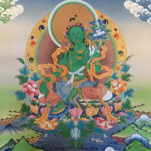 Green Tara Thanka 50*40