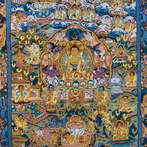 Life of Buddha Thanka 40*30