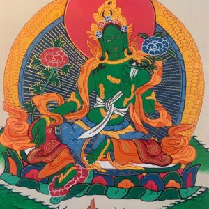 Green Tara Thanka 40*